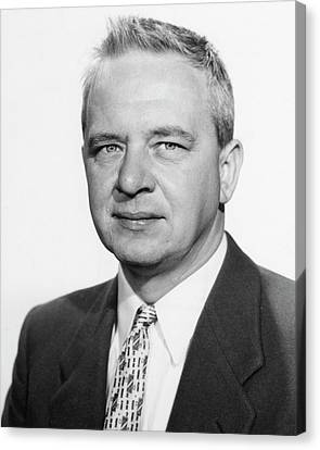 Clyde Cowan Canvas Print by Los Alamos National Laboratory, Emilio Segre Visual Archives/american Institute Of Physics