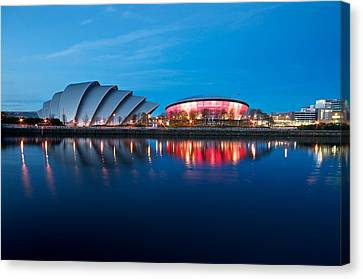 Clydeside Reflected Canvas Print by Stephen Taylor