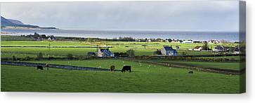Canvas Print featuring the photograph Clyneview Panorama Scotland by Sally Ross