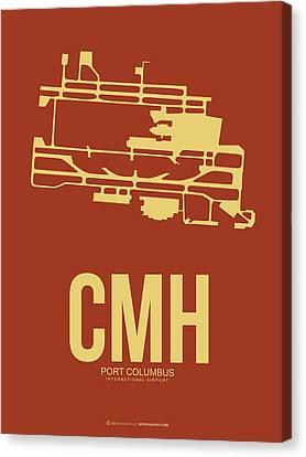 Cmh Columbus Airport Poster 1 Canvas Print by Naxart Studio