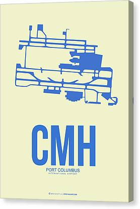 Cmh Columbus Airport Poster 2 Canvas Print by Naxart Studio