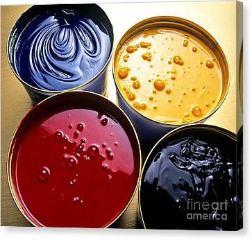 Cmyk Pigments Canvas Print