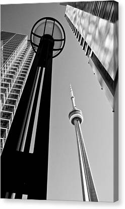 Cn Tower Surrounded Canvas Print by Arkady Kunysz