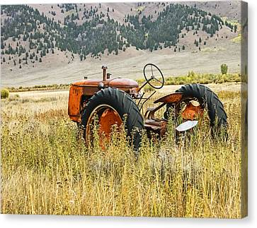 Co Op Tractor Canvas Print