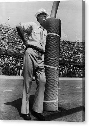 Tuscaloosa Canvas Print - Coach Bear Bryant by Retro Images Archive