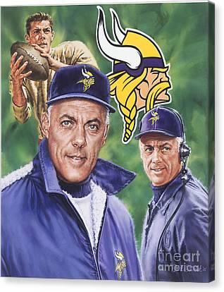Coach Bud Grant Canvas Print