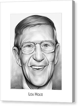 Coach Lou Holtz Canvas Print