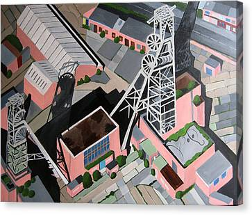 Coal Mine Tower Canvas Print by Toni Silber-Delerive