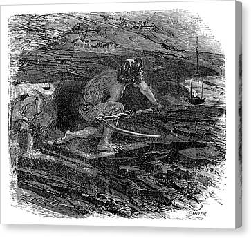 1874 Canvas Print - Coal Miner by Science Photo Library