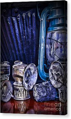 Coal Miner's Gear Canvas Print by Paul Ward