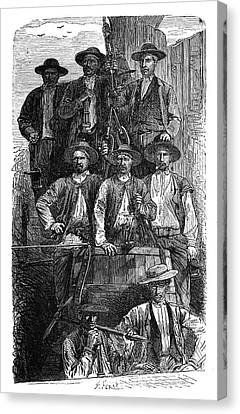 Coal Miners Canvas Print by Science Photo Library