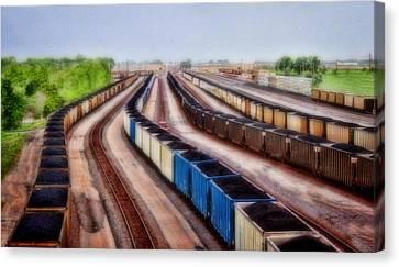 Coal Snakes Canvas Print
