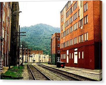 Coal Town Highway Canvas Print by Carlee Ojeda
