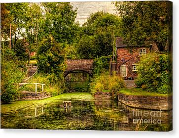 Incline Canvas Print - Coalport Canal by Adrian Evans