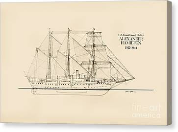 Coast Guard Cutter Alexander Hamilton Canvas Print by Jerry McElroy - Public Domain Image