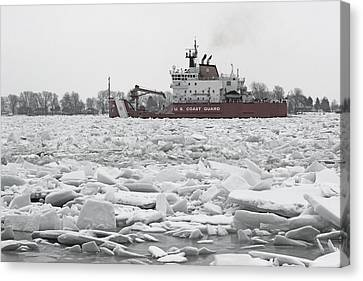 Coast Guard Cutter And Ice 6 Canvas Print