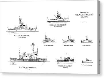 Coast Guard Cutters Of The 1990's Canvas Print