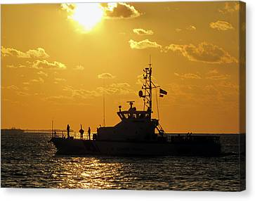 Coast Guard In Paradise - Key West Canvas Print by Bob Slitzan