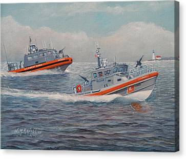 Coast Guard Lri And Rb-m Canvas Print by William H RaVell III