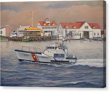 Coast Guard Station Canvas Print by William H RaVell III