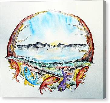 Coast Canvas Print by Natasa Dobrosavljev
