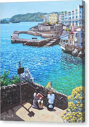 Coast Of Plymouth City Uk Canvas Print