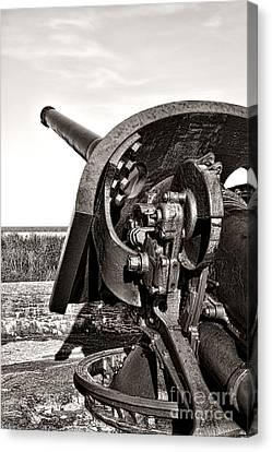 Artillery Canvas Print - Coastal Artillery by Olivier Le Queinec