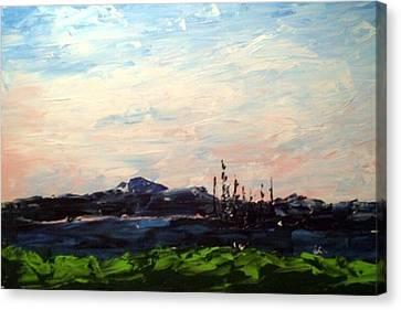 Coastal Bc Lake Impression Canvas Print