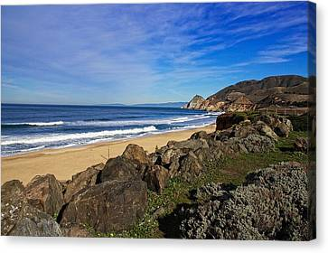 Canvas Print featuring the photograph Coastal Beauty by Dave Files