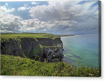Coastal Cliffs Antrim Ireland Canvas Print by Betsy Knapp