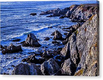 Sonoma Coast Canvas Print - Coastal Cliffs by Garry Gay