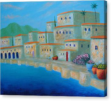 Canvas Print featuring the painting Coastal Colors by Larry Cirigliano