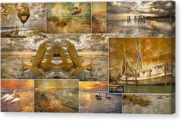 Coastal Connections Canvas Print by Betsy Knapp