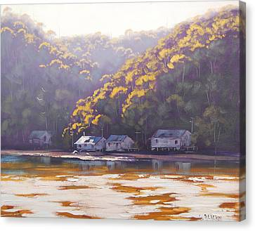 Coastal Creek Canvas Print by Graham Gercken