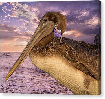 Pier Canvas Print - Coastal Fairytales by Betsy Knapp