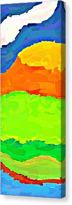 Coastal Highway Canvas Print by ABA Studio Designs