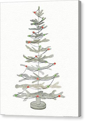 Coastal Holiday Tree II Red Canvas Print by Kathleen Parr Mckenna