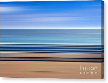 Coastal Horizon 1 Canvas Print by Delphimages Photo Creations