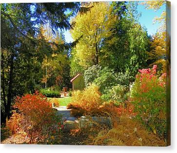 Canvas Print featuring the photograph Coastal Maine Garden by Gene Cyr