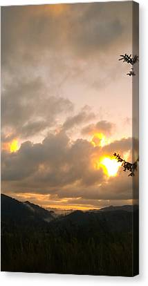 Coastal Mountain Sunrise Canvas Print