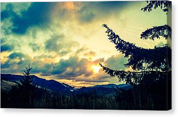 Coastal Mountain Sunrise IIi Canvas Print