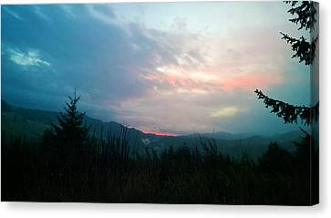 Coastal Mountain Sunrise V Canvas Print