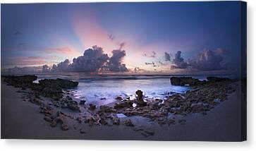 Coastal Panorama Canvas Print by Debra and Dave Vanderlaan