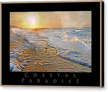Coastal Places Canvas Print - Coastal Paradise by Betsy Knapp
