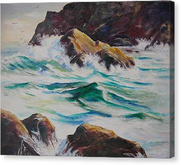 Coastal Rocks Canvas Print by John  Svenson