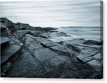 Coastal Rocks Canvas Print by Lourry Legarde
