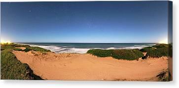 Coastal Sand Dunes Canvas Print by Luis Argerich