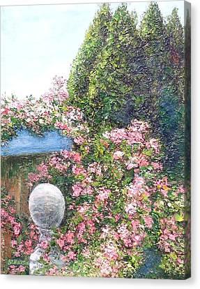 Coastal Sea Roses Canvas Print by Annie St Martin