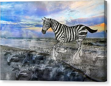 Coastal Stripes I Canvas Print