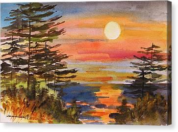 Coastal Sunset Canvas Print by John Williams